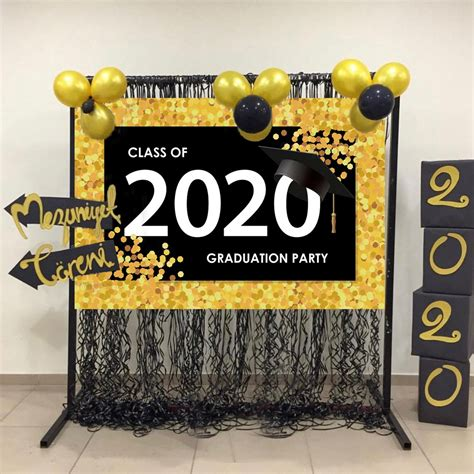 I have started to make the decorations for the graduation party, and wanted to share the ideas and decorations i am making. 2020 Graduation Wall Backdrop Photography Background Photo Props Party Decor   eBay