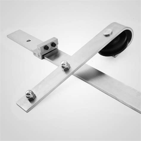 sliding door accessories 10ft sliding barn door track hardware set kit stainless 2316