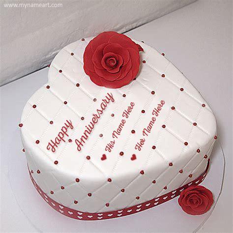 write   wedding anniversary cake  wishes greeting card