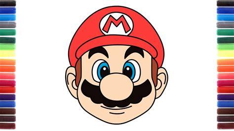How To Draw Cute Emoji Super Mario Run Face Youtube