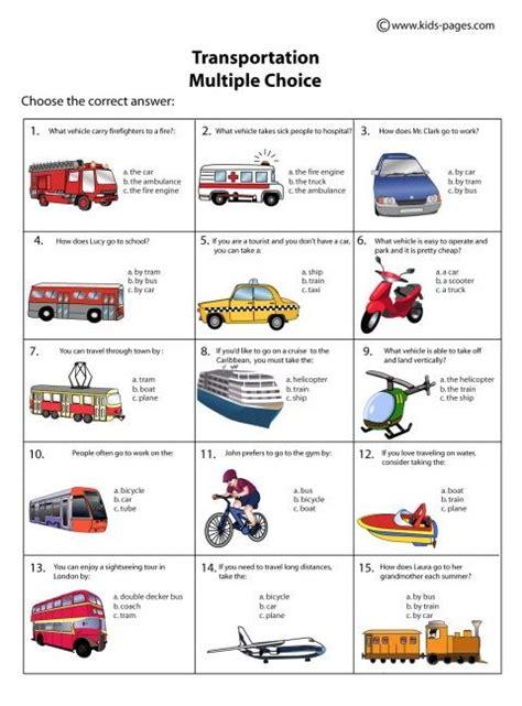 ultimate free transportation worksheets for second grade