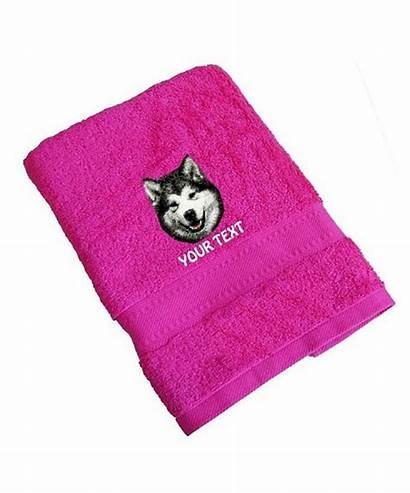Alaskan Malamute Towels Towel Standard Personalised Dog