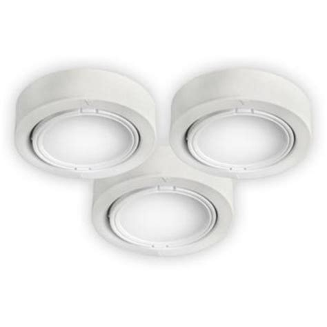bazz white cabinet puck lights 3 pack u00033wh