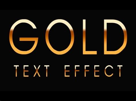 gold lettering font how to make gold text in photoshop 29929