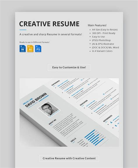 Visual Resume Templates by 30 Top Visual Cv Resume Templates For The Best Creative