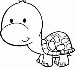 Cute Free Tortoise Turtle Coloring Page | Wecoloringpage