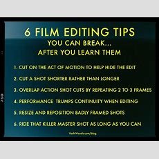 6 Film Editing Rules Vashivisuals