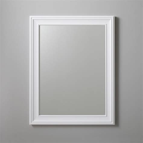 Bathroom Mirrors White Frame by 27 Quot William Traditional Solid Wood Framed Bathroom Mirror