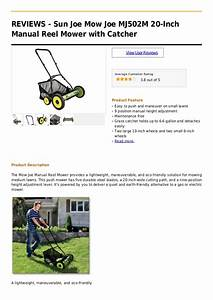Sun Joe Mow Joe Mj502 M 20 Inch Manual Reel Mower With Catcher