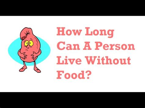 How Long Can A Person Live Without Food? Youtube