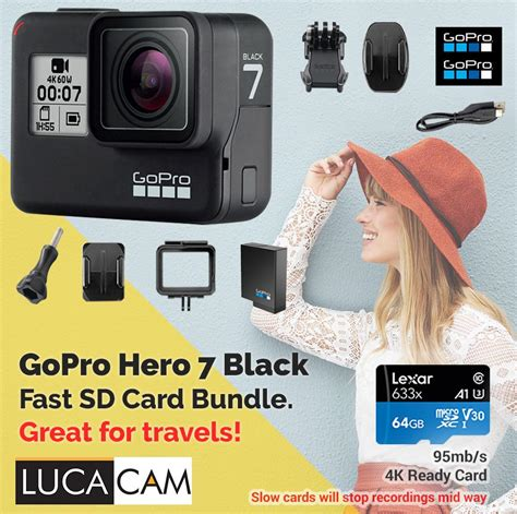 gopro hero black fast gb sd card bundle price