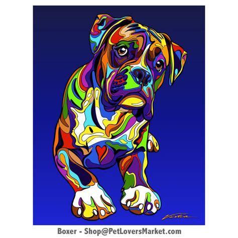 boxer dog art dog portraits and dog paintings