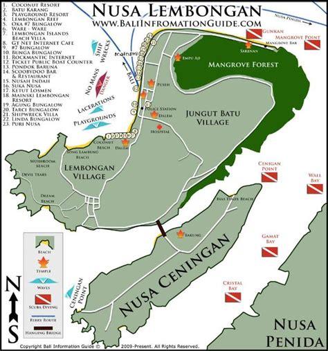 nusa lembongan island resort hotel lembongan map