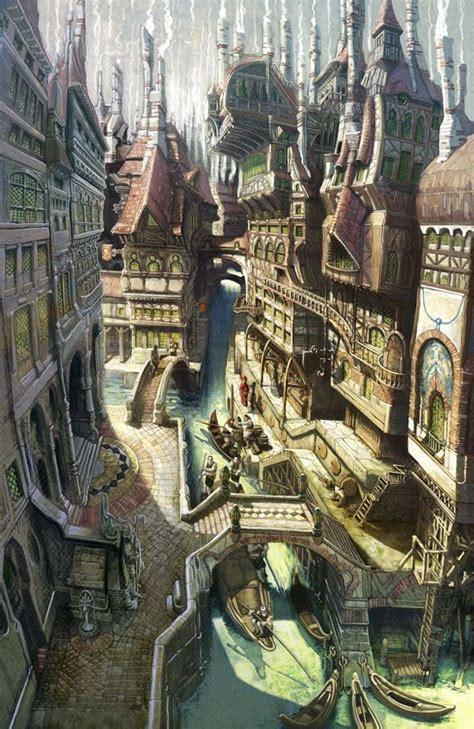 fantasy town fantasy  sci fi villagestowns