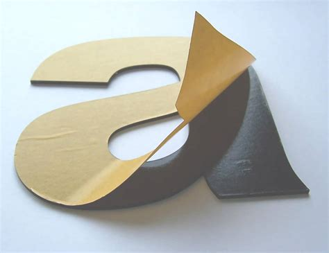 self adhesive letters plastic letters