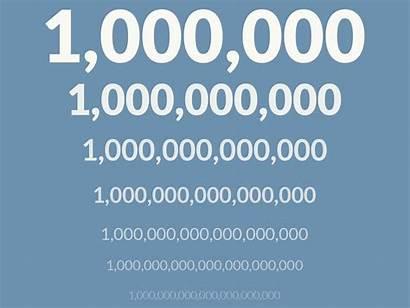 Million Trillion Billion Billions Millions Numbers Dollars