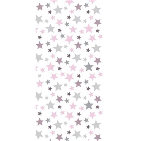 chambre ciel étoilé papier peint étoiles roses taupes et grises lili pouce