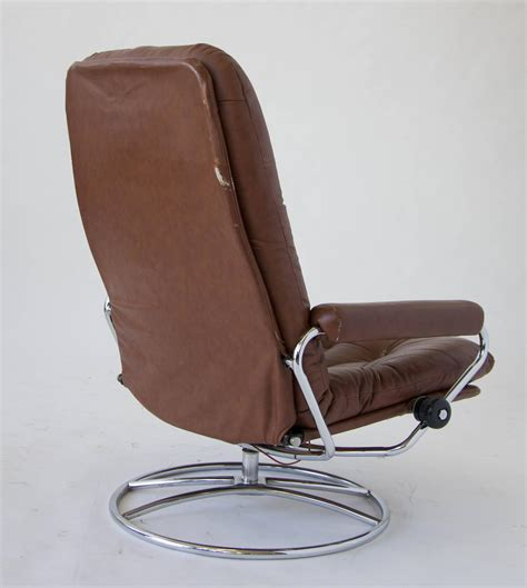 ekornes stressless chair and ottoman for sale at 1stdibs