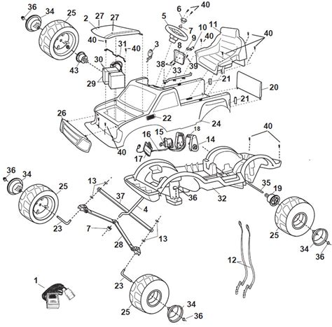 1998 Ford F 150 Part Diagram by Power Wheels Ford F150 Parts