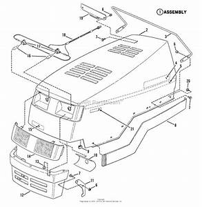 Snapper Lt12d331b 33 U0026quot  12 Hp Disc Drive Tractor Series 1 Parts Diagram For Hood  Bumper  Headlights