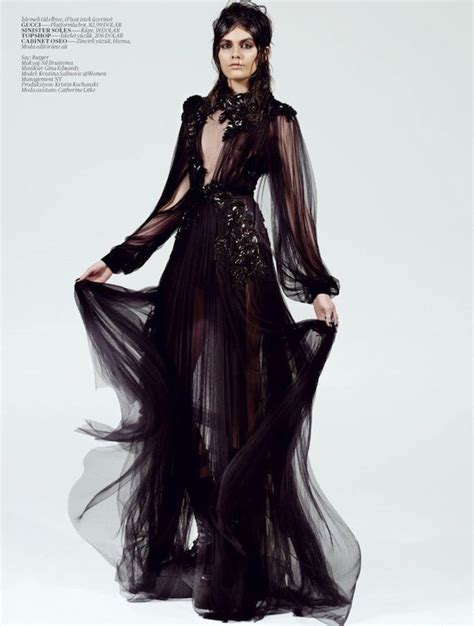 goth fashion long black flowy dress wicked and gothic