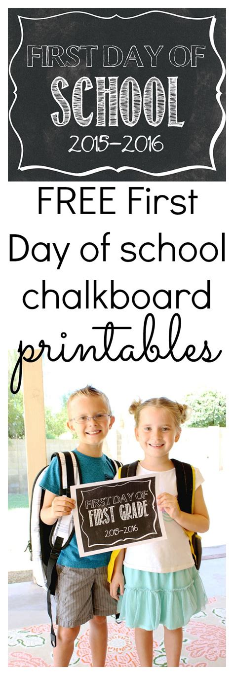 Free Customizable First Day Of School Signs  First Day Of