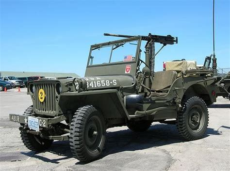 military jeep with gun willys mb jeep 1942 with 50 caliber machine gun