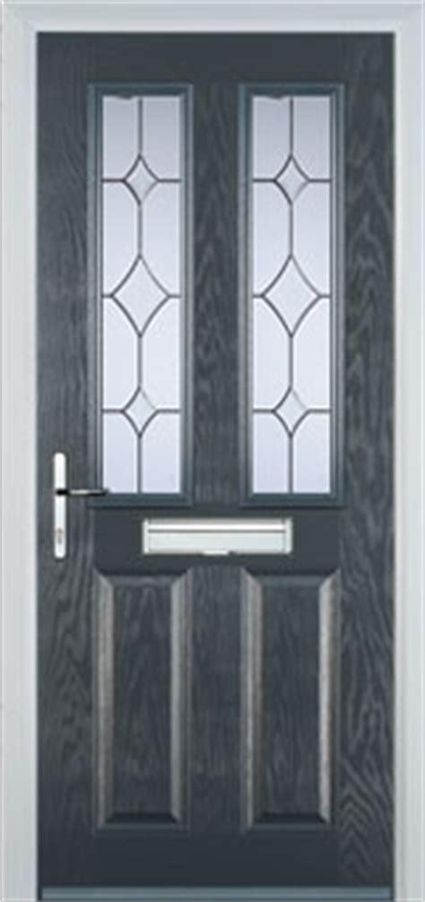 panel  square crystal diamond composite front door  grey
