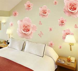aliexpresscom buy big beautiful rose wall stickers With beautiful rose decals for walls
