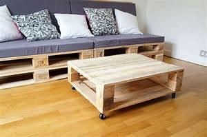 Table Basse Palettes : table basse palette deco design 23 super d co ~ Melissatoandfro.com Idées de Décoration