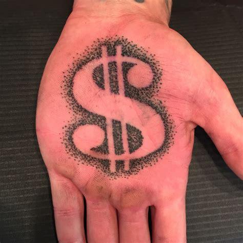 black  grey dollar money tattoo hand  jose lopez