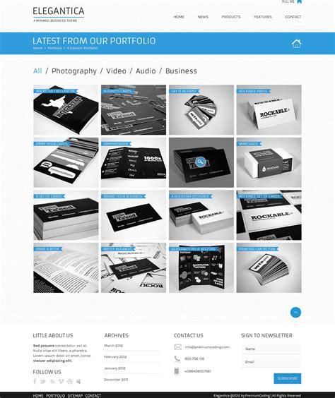 portfolio template free freebie 4 column portfolio template for business theme premiumcoding