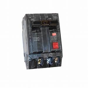 Ge 20 Amp 1 U0026quot  220v Gfci Double Pole Breaker