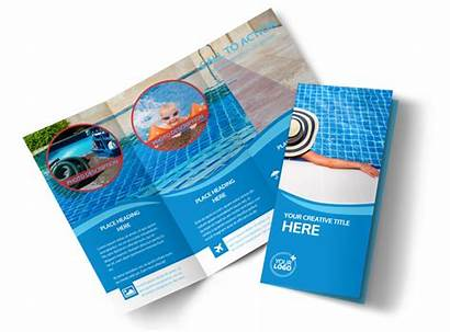 Brochure Cleaning Pool Template Swimming Service Templates