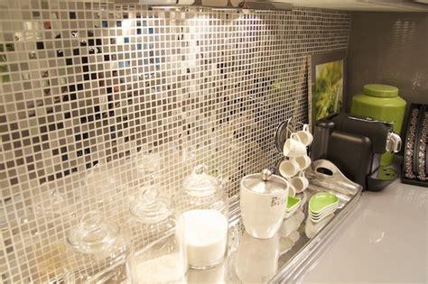 Mirrored Mosaic Tile Backsplash : Contemporary Backsplash Tiles- Contemporary