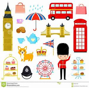 London Cartoons Set Stock Vector Image: 90030748