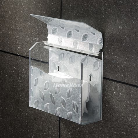 simple black silver acrylic wall mounted toilet paper holder