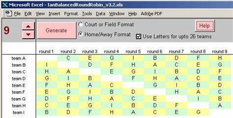 8 Team Schedule Template Fresh Round Robin Tournament