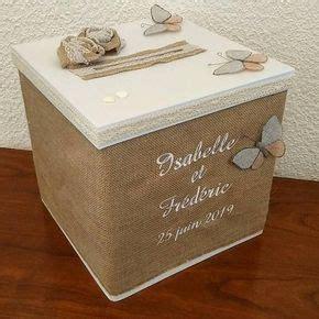 urne pour mariage le cube en toile de jute pour