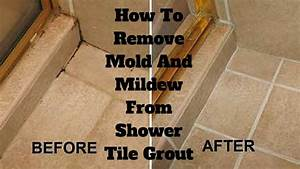 How to remove mold and mildew from shower tile grout for How to get rid of mildew on tile grout