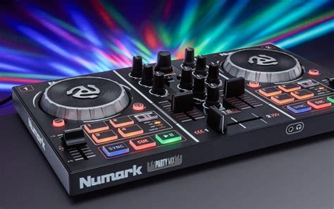 party mix dj controller  built  light show numark