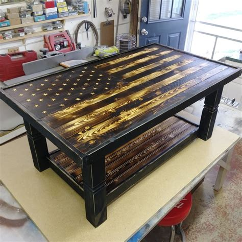 Henry ford una volta disse: Rustic Flag Coffee Table - RYOBI Nation Projects