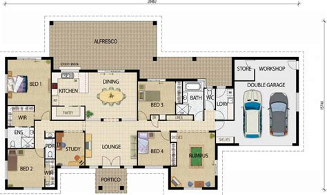 open floor house plans rustic open floor plans