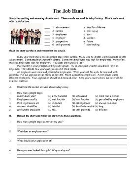 reading comprehension worksheets life skills series