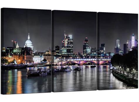 cheap london skyline  night canvas art  panel