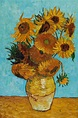Sunflowers - Vincent Van Gogh - Oil Reproduction at ...