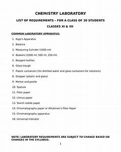 Chemistry Lab Manual For Class 12  U0026 Class 11 Isc