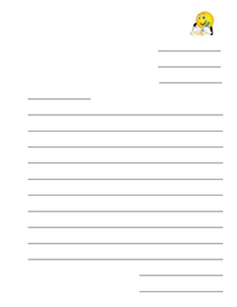blank business letter template blank