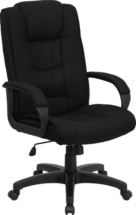 High Back Black Fabric Executive Office Chair GO-5301B-BK-GG