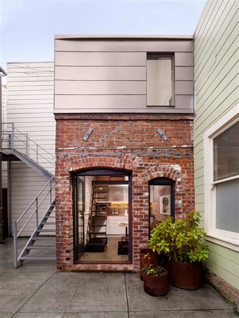 brick house facade contemporary exterior san